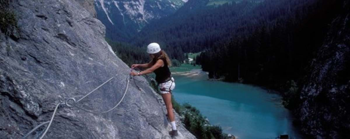 Via Ferrata at Lac Rosiere