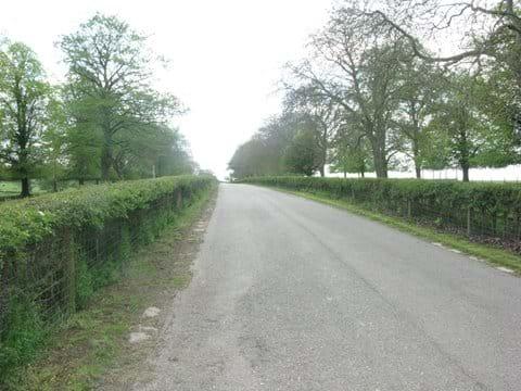 Stocken Hall Farm drive - Moo Cow Cottage