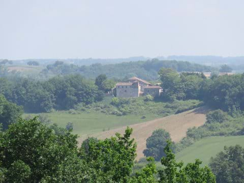 View of La maison  in the heart of the countryside
