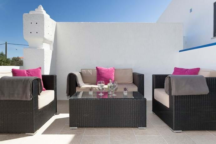 Upstairs Terrace private with wonderful views to the sea and mountains