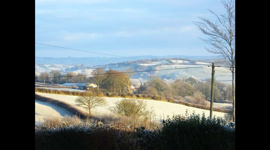 Frosty morning view from Winllan Farm