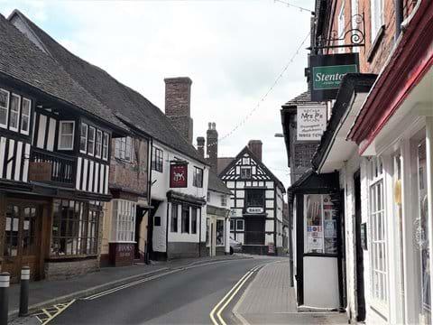 The High Street in Much Wenlock