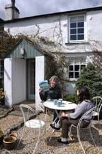 Derry Brabbs, Photographer (for Alfred Wainwright books) having tea at Swangs