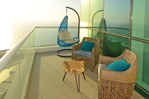 Hanging Chair and furniture side balcony