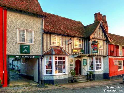 Newly refurbished Greyhound Pub on Lavenhams High Street