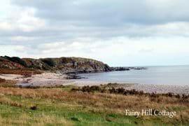 Beach near Fairy Hill Cottage.