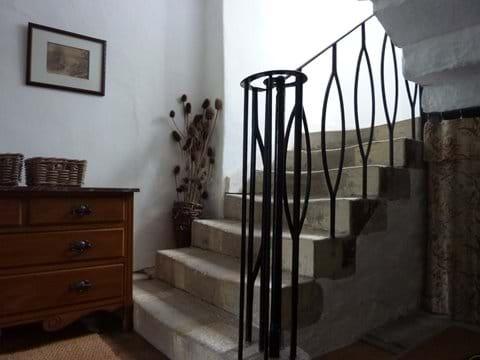 The original stone stairs
