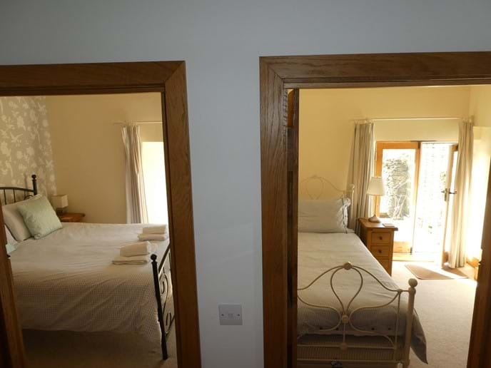 View of bedrooms from the hallway