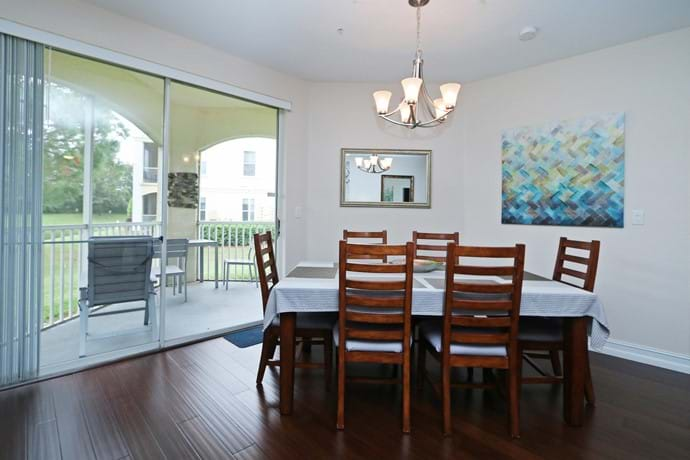refurbished dining area in our 2 bedroom condo 7-108