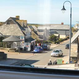 View from Bedroom 1 towards National Trust Old Post Office & distant Sea views