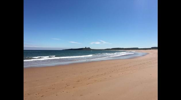 The beautiful Embleton Bay - just a 10 minute stroll from Snowdrop Cottage