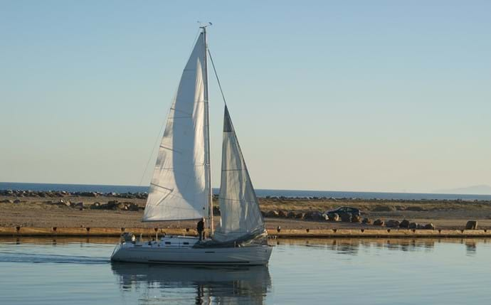 Sailing, a popular pastime from nearby Port Leucate