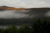 view from window self catering accommodation Fort William
