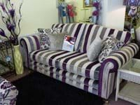Large stripy sofa
