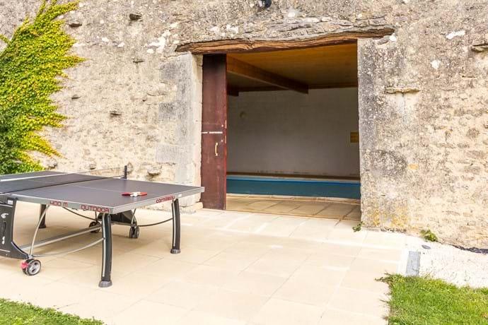 Table Tennis on Pool Room Terrace
