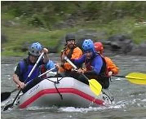 Whitewater rafting is best April - June