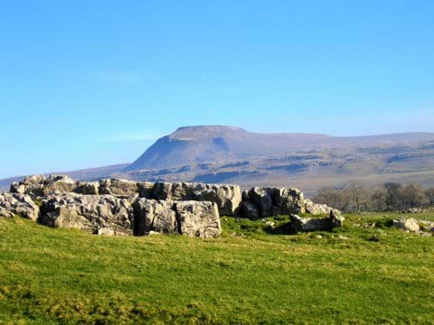 Ingleborough and Whernside can be accessed from the doorstep