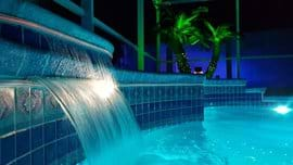 Colour changing waterfalls