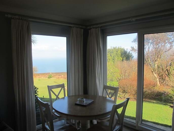 View out from Coastal Path Cottage