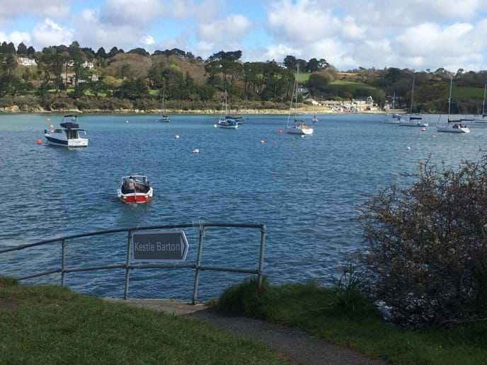 The ferry on its way back to Helford Passage