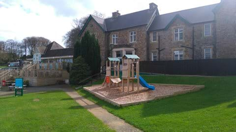 Manor house overlooking the playground