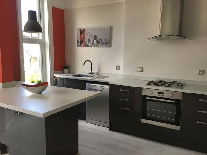 Stylish open plan kitchen