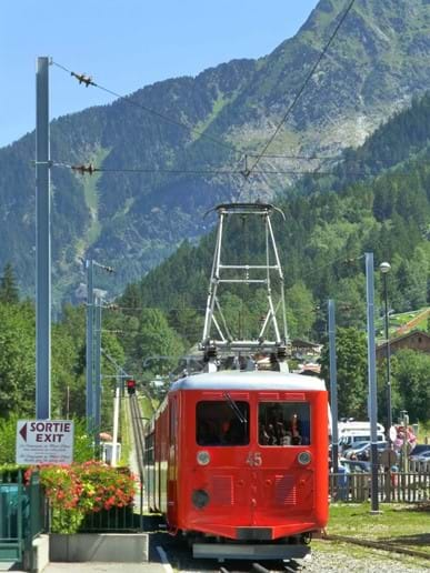 Take the scenic railway, the Train Du Montenvers which winds its way up the mountain