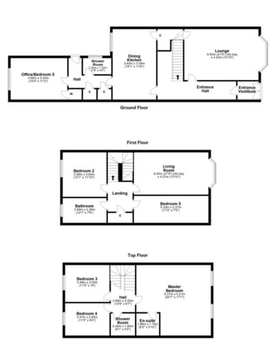 Floor plan to give some idea of layout (some rooms labelled differently to current use)