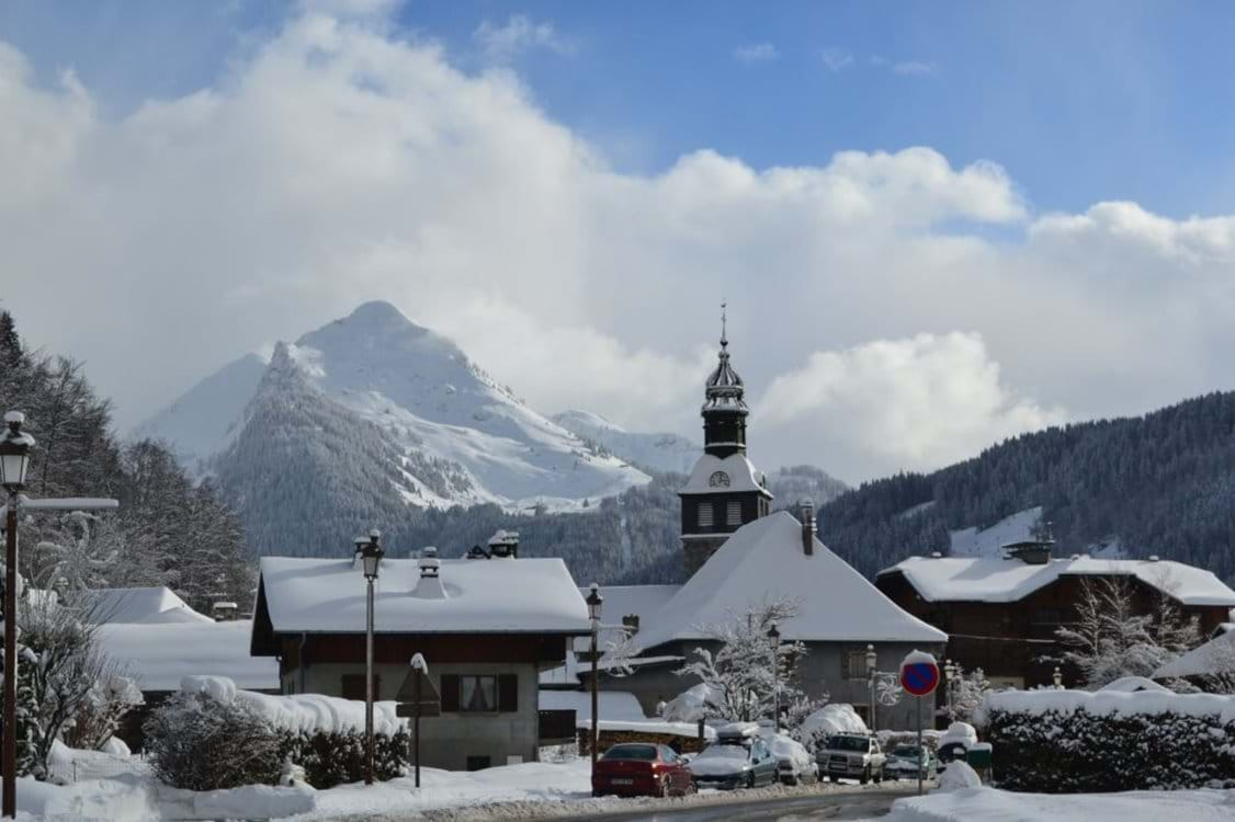 Morzine with Nyon in background