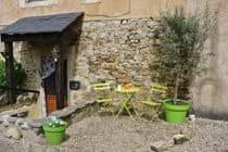 La Violette - small terrace with Olive tree