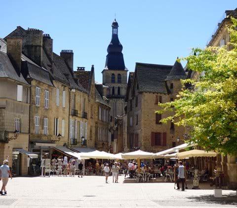 View of Saint Sacerdos Cathedral from Place de la Liberté
