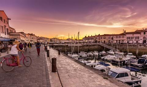 Dusk at Saint Martin de Ré harbour on the Ile de Ré