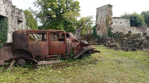 The preserved village of Oradour sur Glane