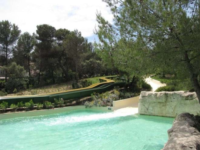 Water slides in the Pierre and Vacance village