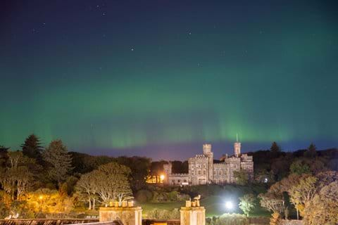 Lews Castle And The Aurora Borialis (The Northern Lights)