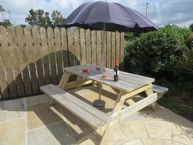 Enjoy a glass of wine on the patio