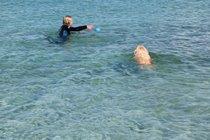 Swimming lessons, Bernera