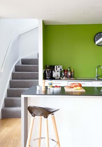 Kitchen looking upstairs
