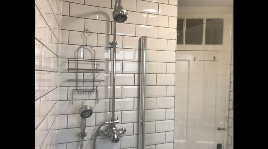 Two headed shower for extra comfort