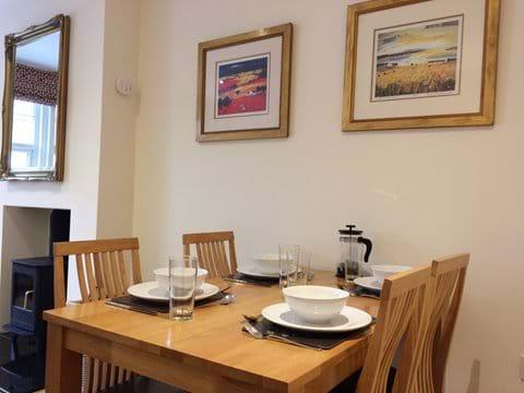 Flat 1 dining area