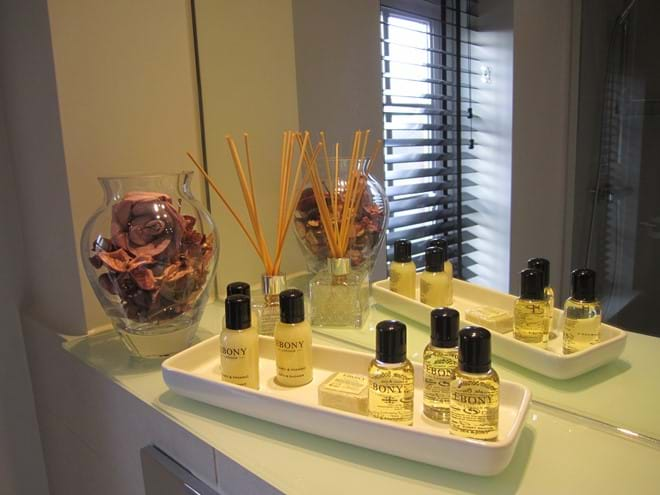 Complimentary luxury toiletries to indulge after a busy day