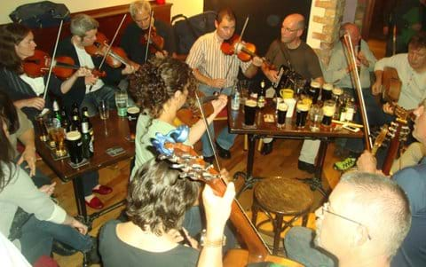 Traditional session in John Joes Pub during Kilcar Fleadh festival