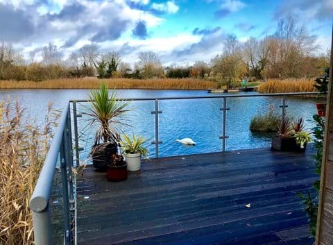 Wonderful, relaxing views from the decking