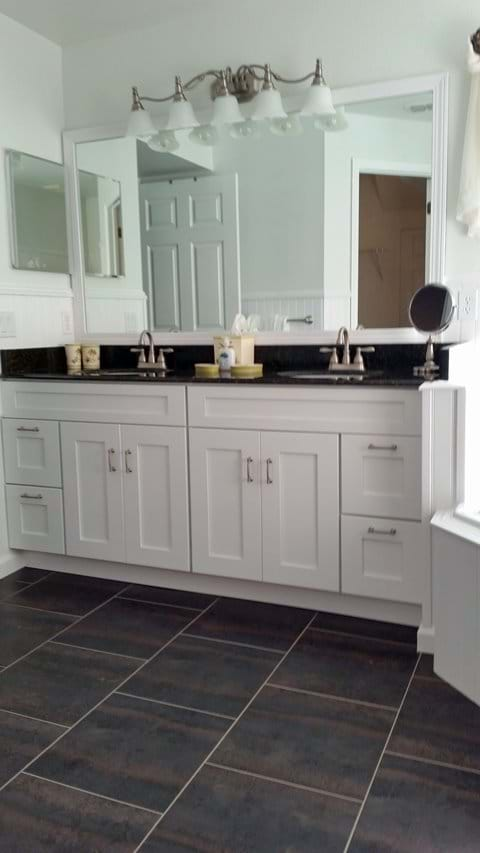 His and her granite sinks