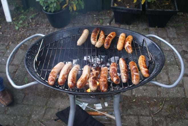 There are two barbeques to cater for even the largest parties