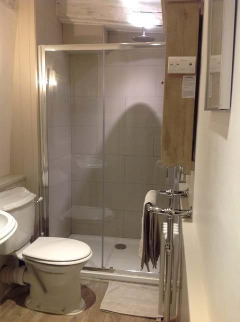 Luxury shower room in lavenham holiday cottage