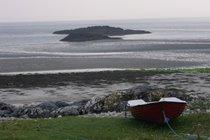 Beach with Seal island.