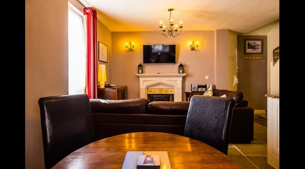 Our open plan ground floor - spacious yet gorgeously cosy!