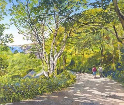 Rocky Lane painted by Margaret Merry