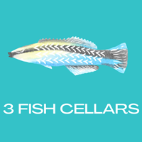 Logo - 3 Fish Cellars, Portwrinkle